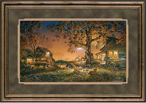 "Terry Redlin Hand Signed and Numbered Limited Edition Premium Framed Print: ""Twilight Time"""