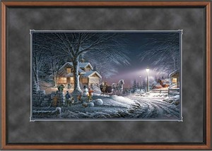"Terry Redlin Encore Edition Premium Framed Print: ""Winter Wonderland"""