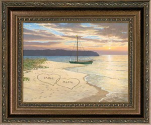 "Persis Clayton Weirs Framed Personalized Canvas Edition:""Golden Dreams"""
