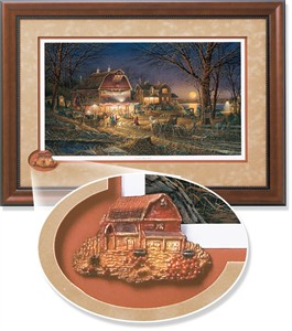 "Terry Redlin Framed Open Edition Cameo: ""Harvest Moon Ball Encore"""