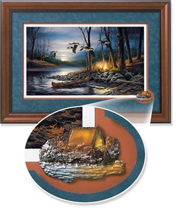 "Terry Redlin Framed Open Edition Cameo: ""Evening Glow Encore II"""