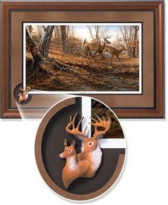 """Terry Redlin Framed Open Edition Cameo: """"Autumn Run Encore II"""""""