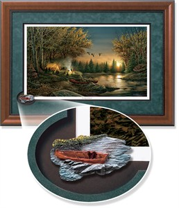 "Terry Redlin Framed Open Edition Cameo: ""Evening Solitude Encore"""