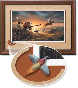 "Terry Redlin Framed Open Edition Cameo: ""Evening Surprise Encore"""