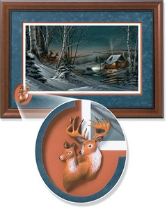 "Terry Redlin Framed Open Edition Cameo: ""Evening with Friends Encore"""