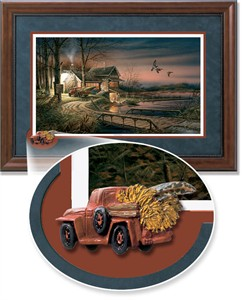 """Terry Redlin Framed Open Edition Cameo: """"Hunter's Haven Encore II"""""""