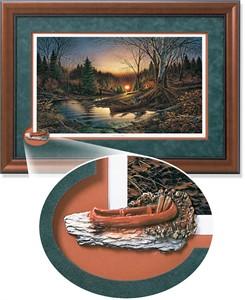 """Terry Redlin Framed Open Edition Cameo: """"Morning Solitude Encore"""""""
