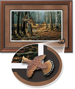 "Terry Redlin Framed Open Edition Cameo: ""Old Logger's Trail Encore """