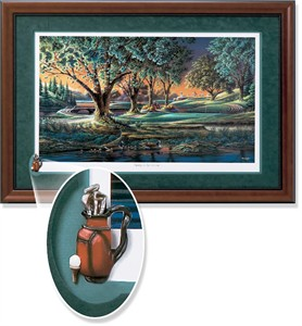 "Terry Redlin Framed Open Edition Cameo: ""Spring on the Greens Elite"""