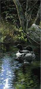 "Persis Clayton Weirs Open Edition Print: ""Dancing Water Loons"""