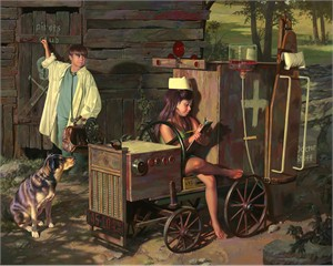 "Bob Byerley Hand Signed and Numbered Limited Edition Giclee Print and Canvas:""House Calls"""