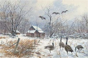 "Jim Killen Handsigned and Numbered Limited Edition Print: ""Winter Refuge"""