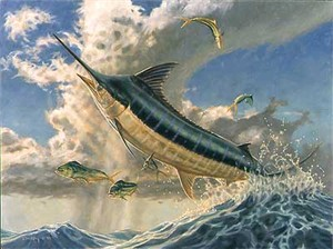 """Don Ray Handsigned and Numbered Limited Edition Print: """"Flying Fish"""""""