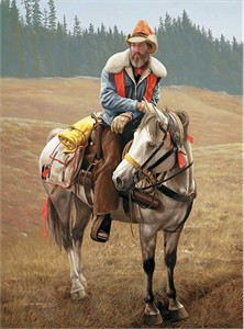 "Michael Gnatek Handsigned and Numbered Limited Edition Print:""Wind River Hunter"""