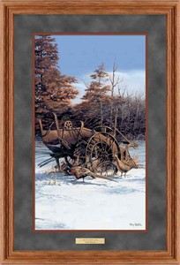 "Terry Redlin Framed Deluxe Open Edition Pinnacle Print: ""Rusty Refuge I """