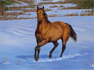 "Chris Cummings Signature Edition Print:""That's My Horse- Buckskin"""